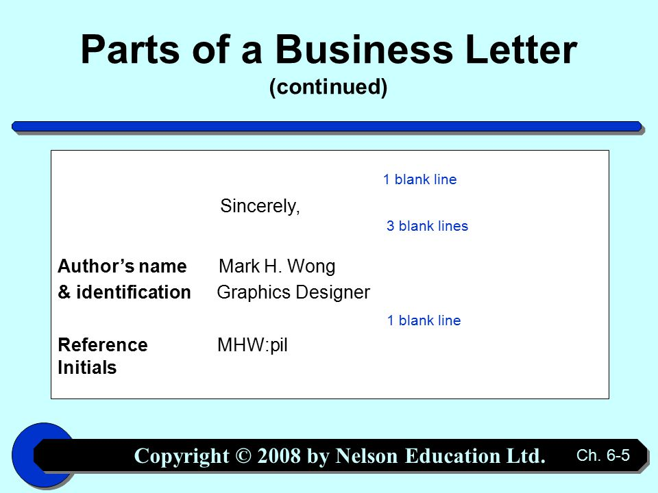 Copyright © 2008 by Nelson Education Ltd.Ch.