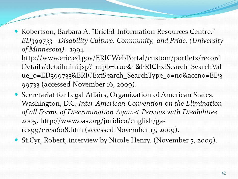 Robertson, Barbara A.