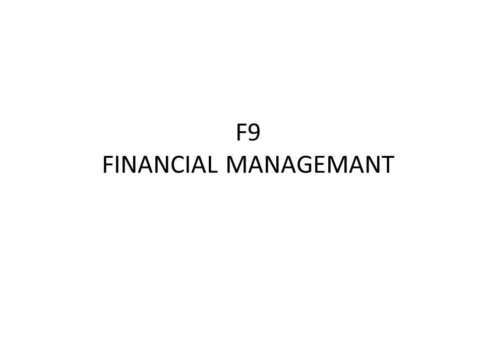 F9 FINANCIAL MANAGEMANT