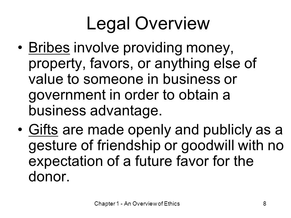 Chapter 1 - An Overview of Ethics9 Improving Corporate Ethics Appoint a corporate ethics officer.