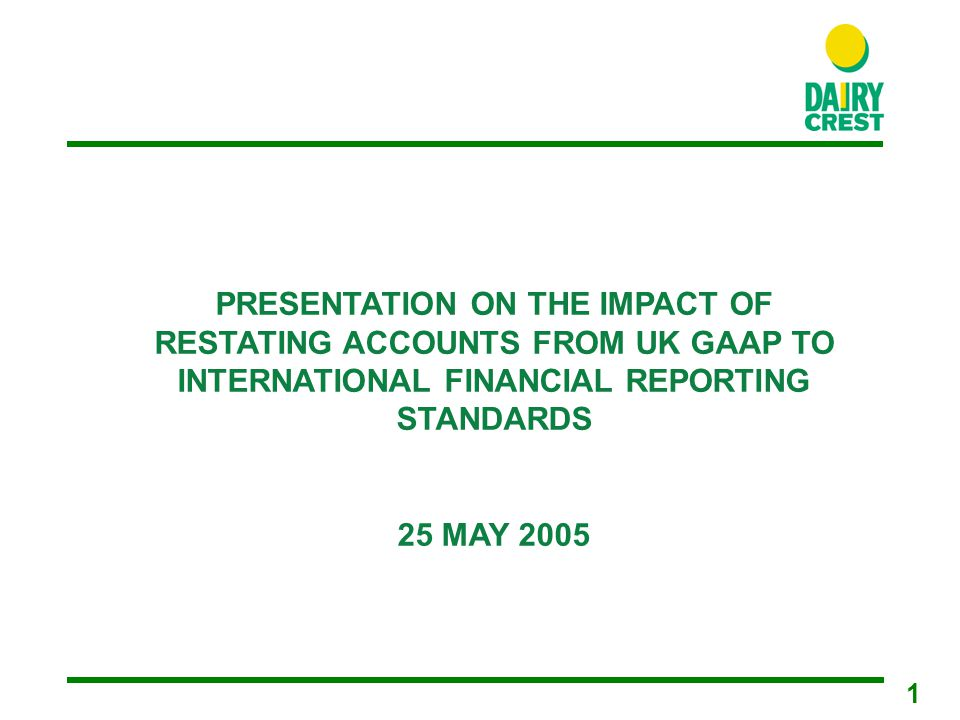 2 IFRS - Current Position Restatement of opening balance sheet at 31 March 2004 completed Restatement of profit and loss account for 2004/05 and balance sheet at 31 March 2005 completed Numbers are unaudited estimates based on current understanding of IFRS Numbers will not be audited until May 2006 Further changes may be required if additional standards issued or interpretation amended or further guidance issued by IFRIC