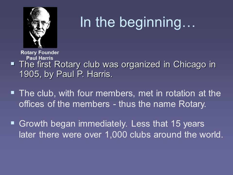 Club Service Those things that a Rotarian does to help make the running of the local club successful.