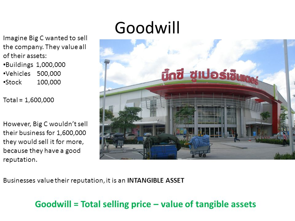 Goodwill Imagine Big C wanted to sell the company.