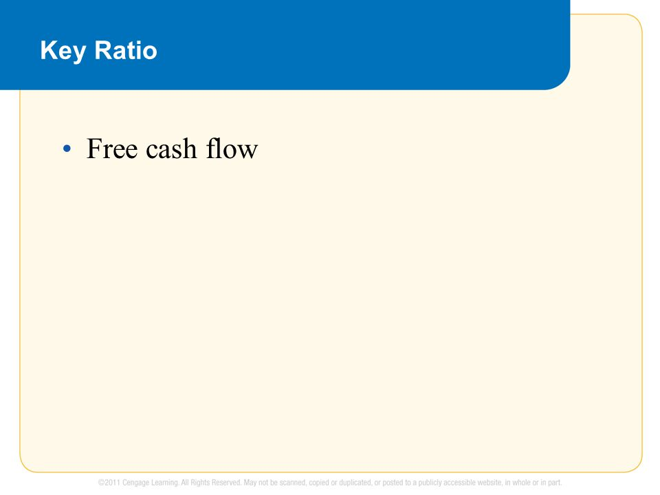 Key Ratio Free cash flow