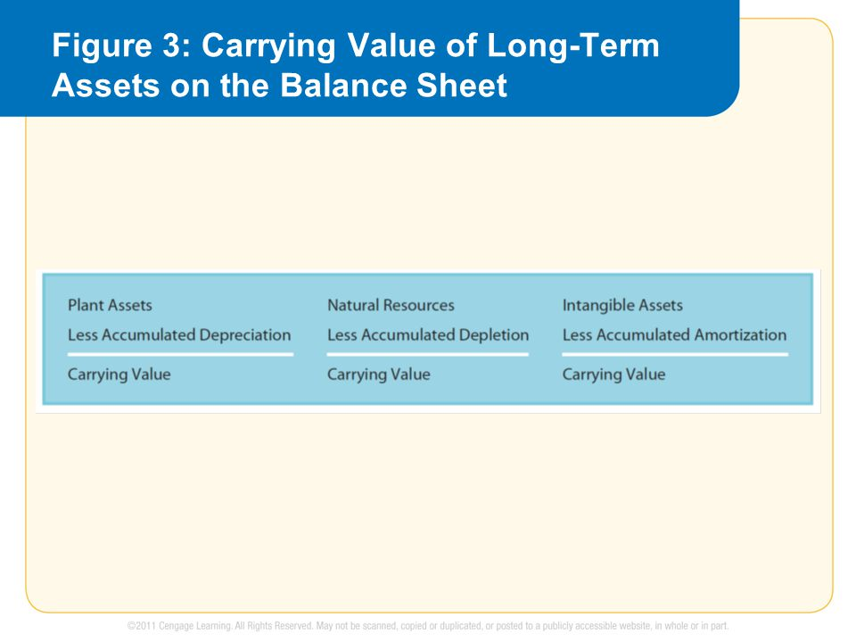 Figure 3: Carrying Value of Long-Term Assets on the Balance Sheet
