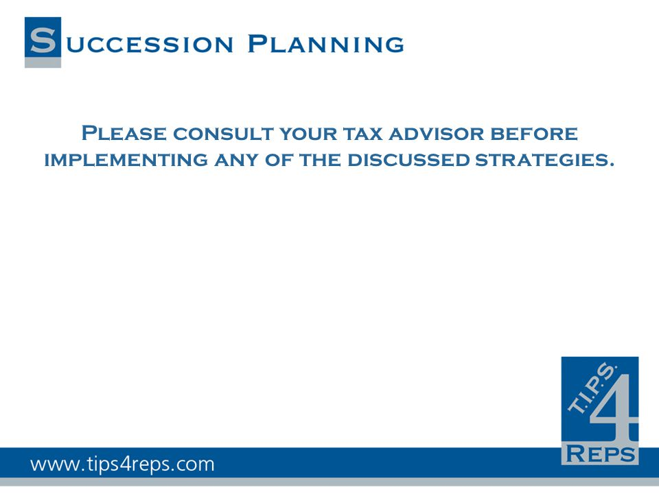 Please consult your tax advisor before implementing any of the discussed strategies.