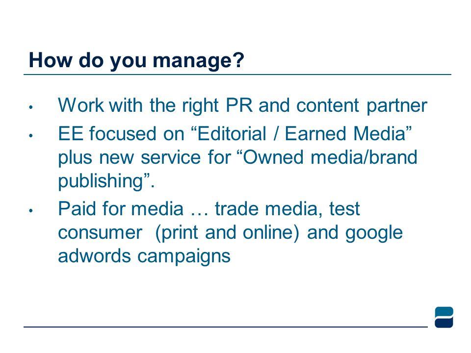 How do you manage.