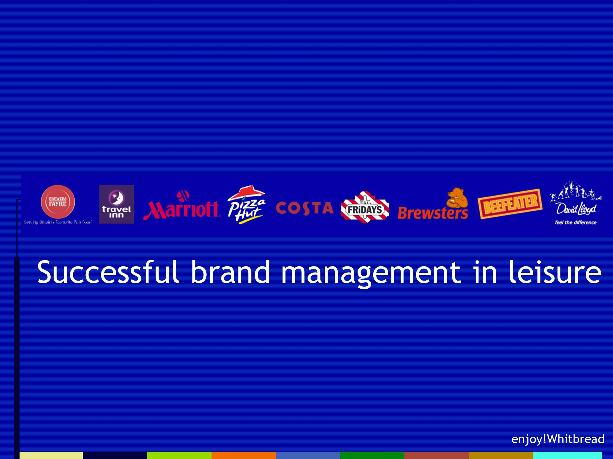enjoy!Whitbread Successful brand management in leisure