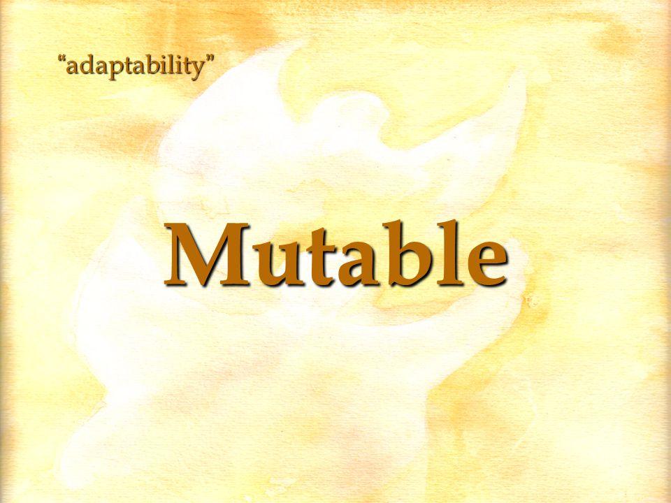 Mutable adaptability