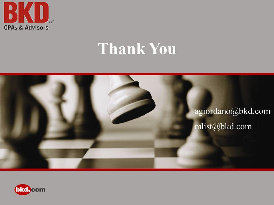 Thank You agiordano@bkd.com mlist@bkd.com