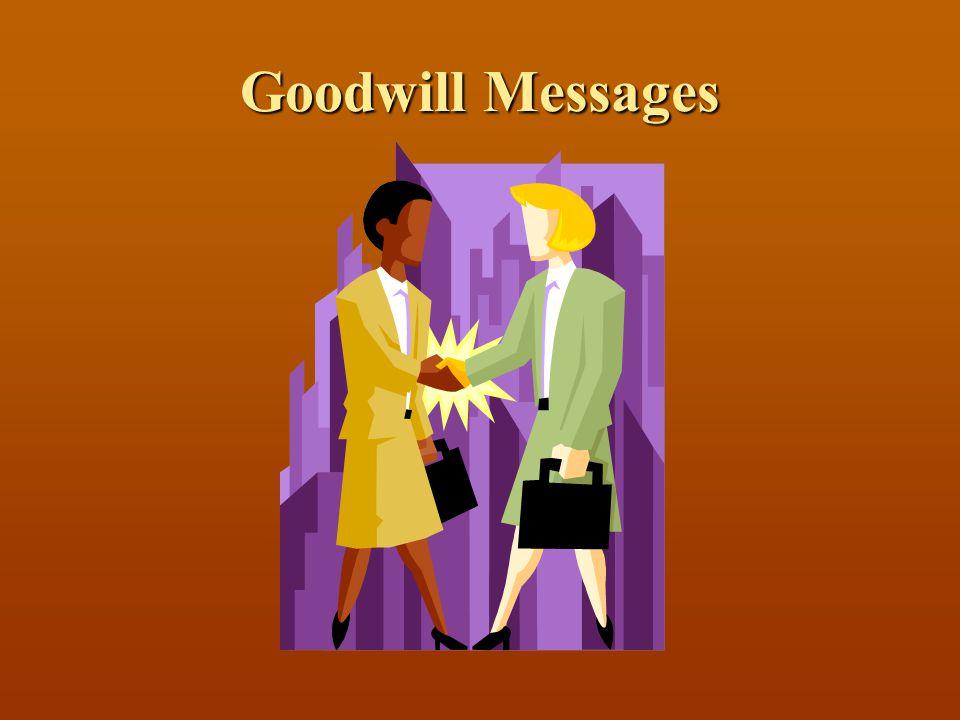 Goodwill Messages