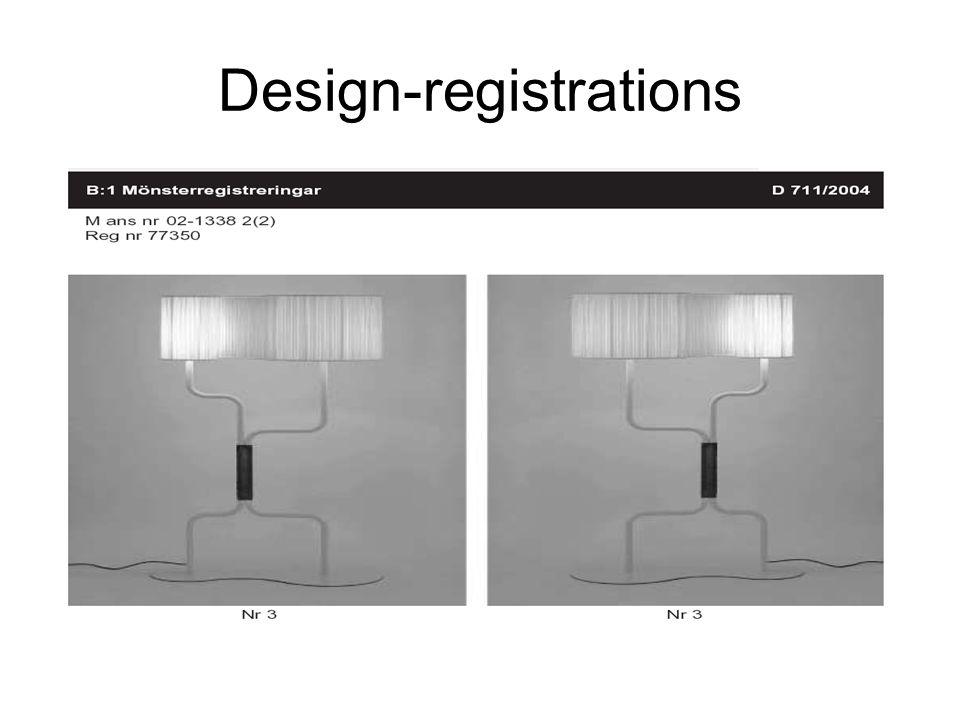 Design-registrations