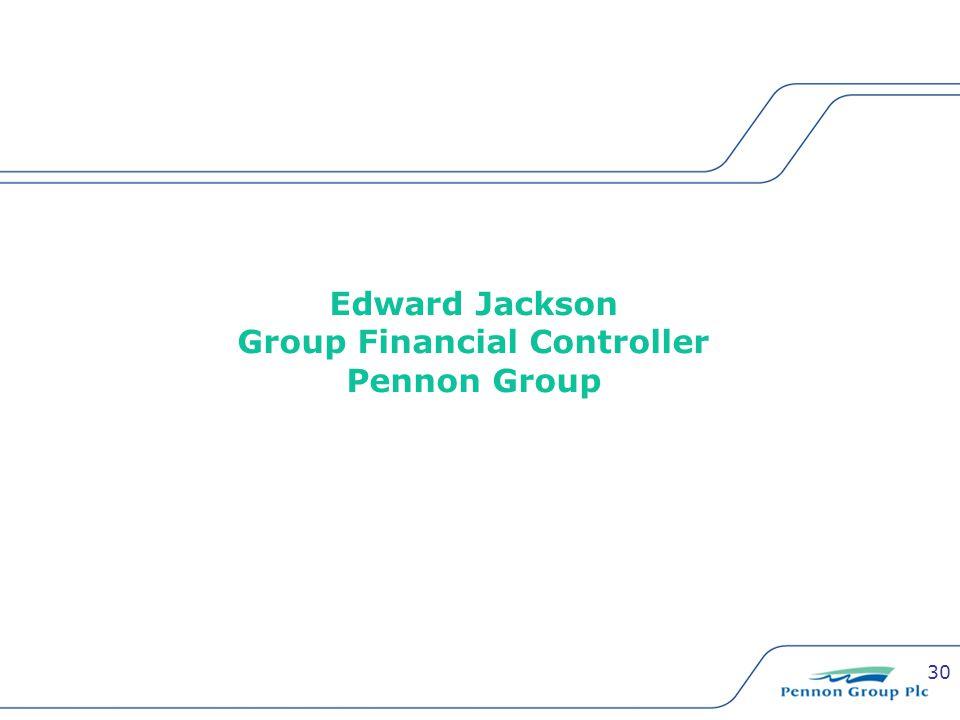 30 Edward Jackson Group Financial Controller Pennon Group