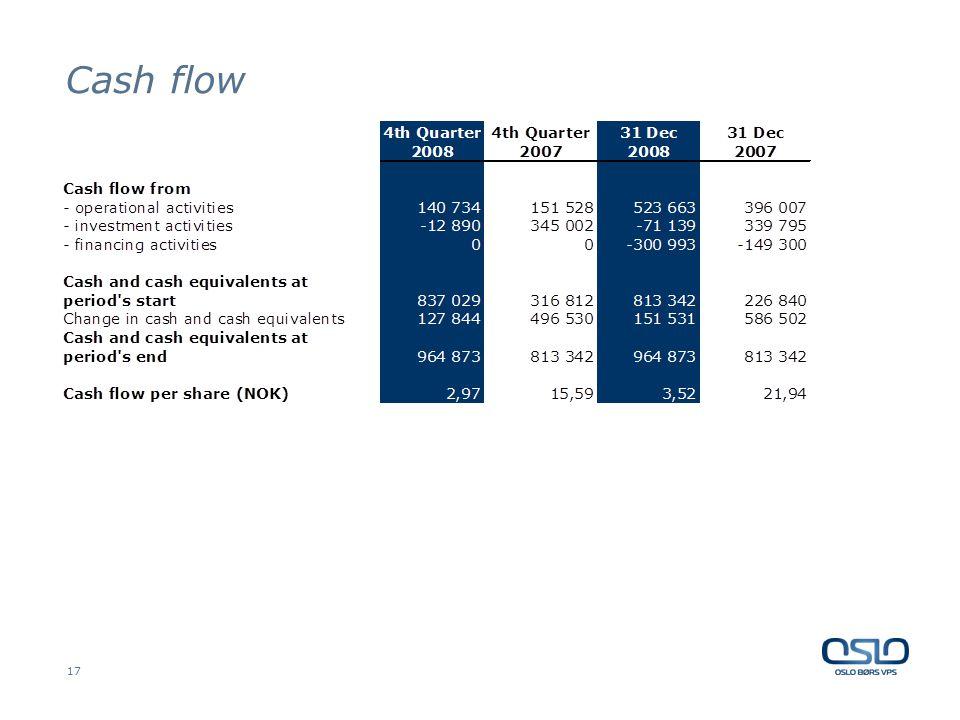 17 Cash flow