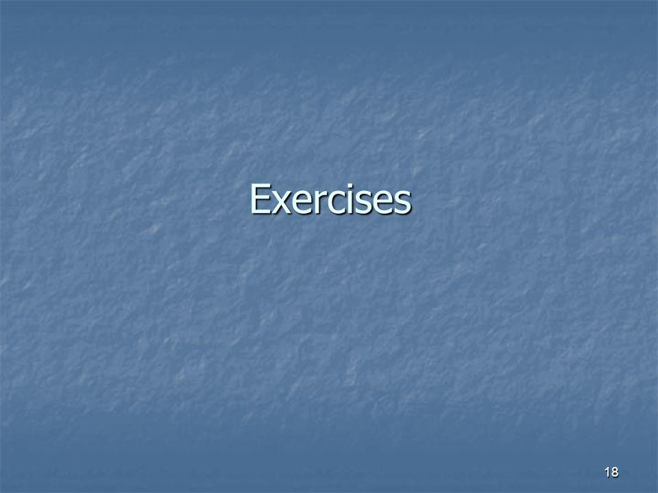 18 Exercises
