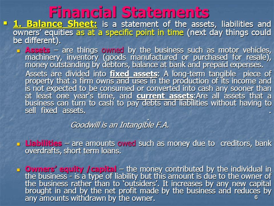 6 Financial Statements  1.