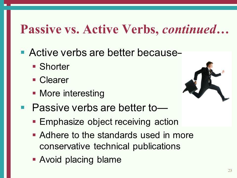 23 Passive vs.