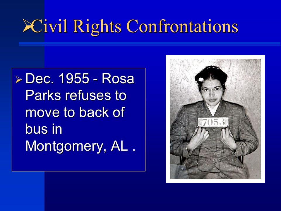  Civil Rights Confrontations  Dec.