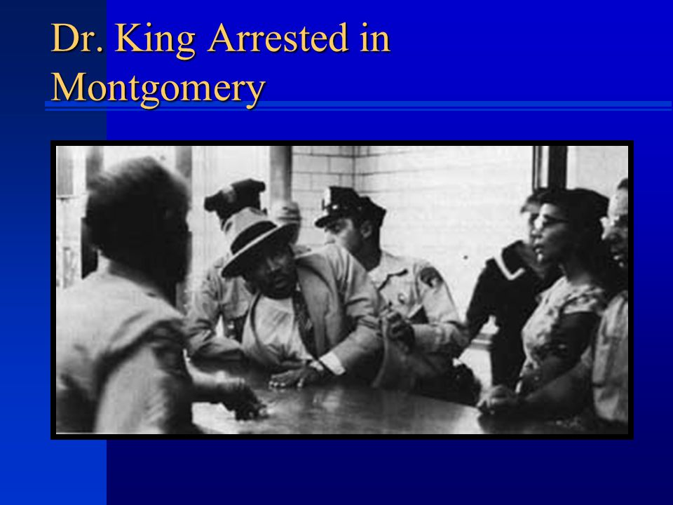 Dr. King Arrested in Montgomery