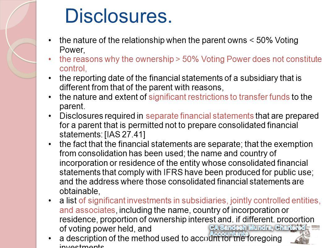 Disclosures.