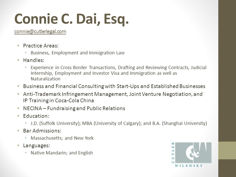 Connie C. Dai, Esq.