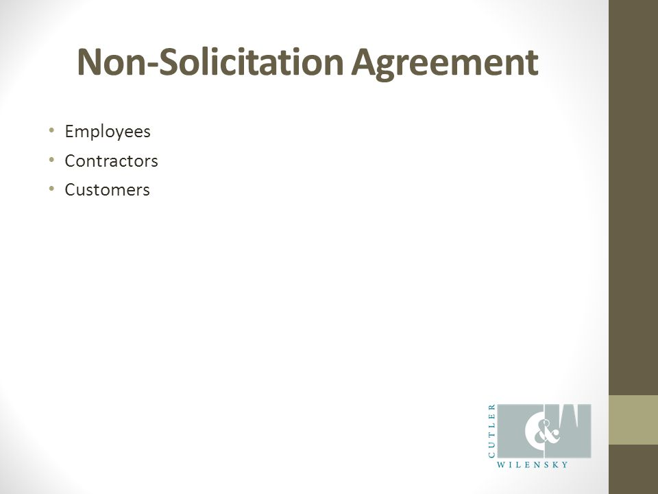 Non-Solicitation Agreement Employees Contractors Customers
