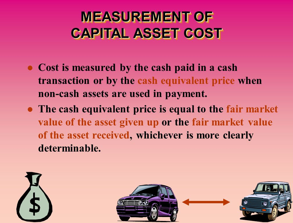Cost is measured by the cash paid in a cash transaction or by the cash equivalent price when non-cash assets are used in payment.