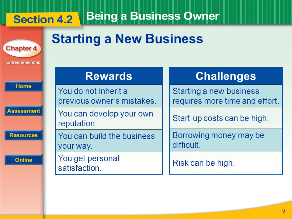 10 Starting a New Business Examples of start-up costs include: start-up costs the expenses involved in going into business Renting or buying space Buying equipment and supplies Buying insurance