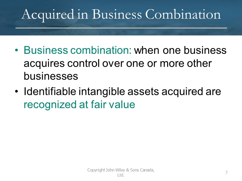 Types of Intangibles Five major categories for intangibles: 1.