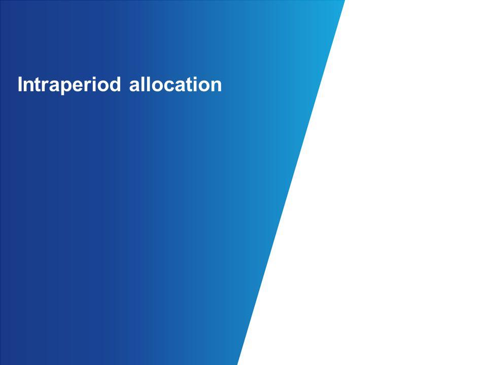 Intraperiod allocation