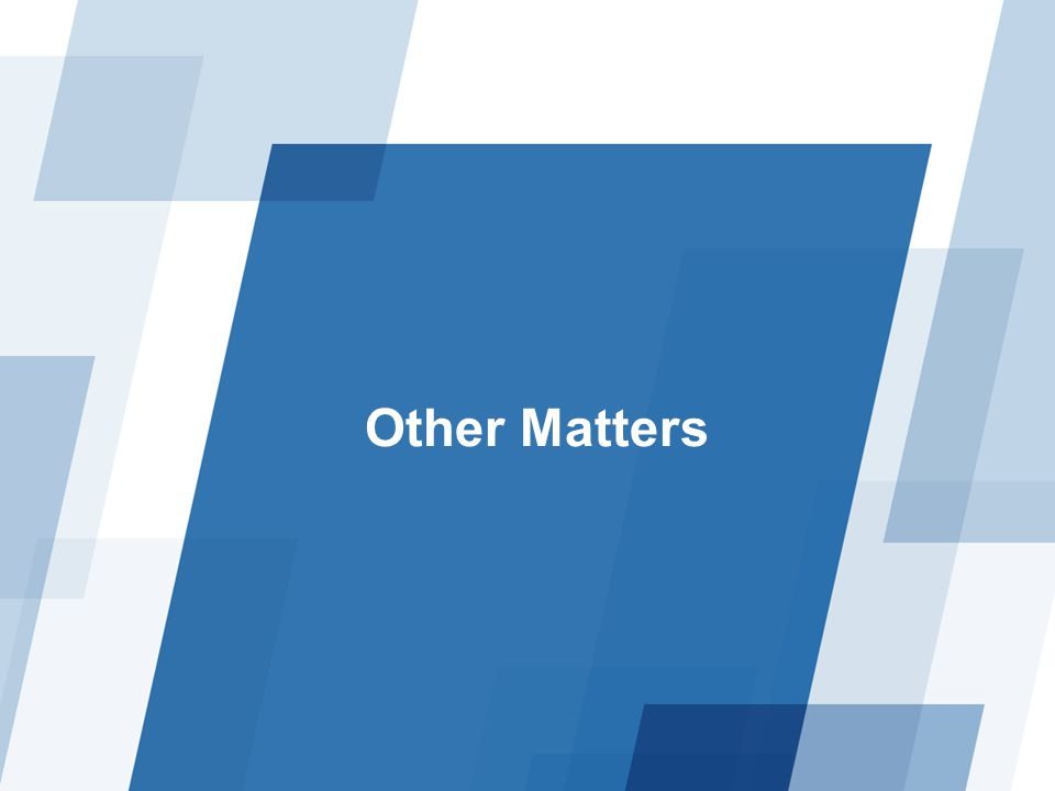 Other Matters