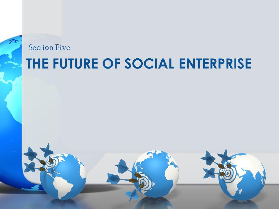 THE FUTURE OF SOCIAL ENTERPRISE Section Five