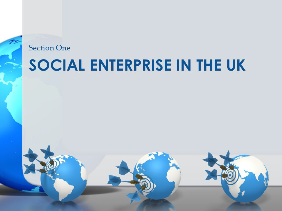 SOCIAL ENTERPRISE IN THE UK Section One