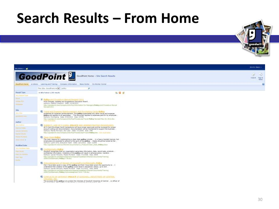 Search Results – From Home 30