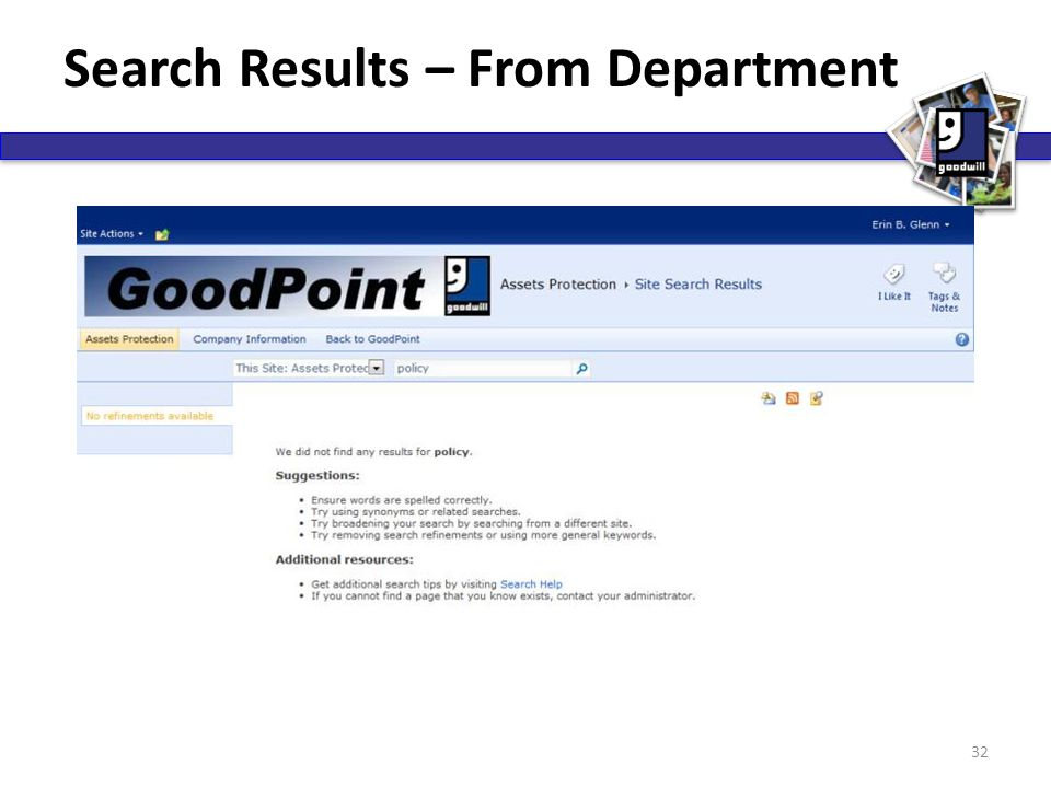 Search Results – From Department 32