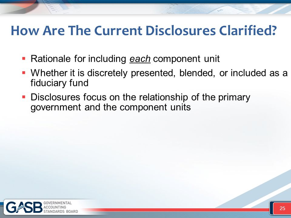 How Are The Current Disclosures Clarified.