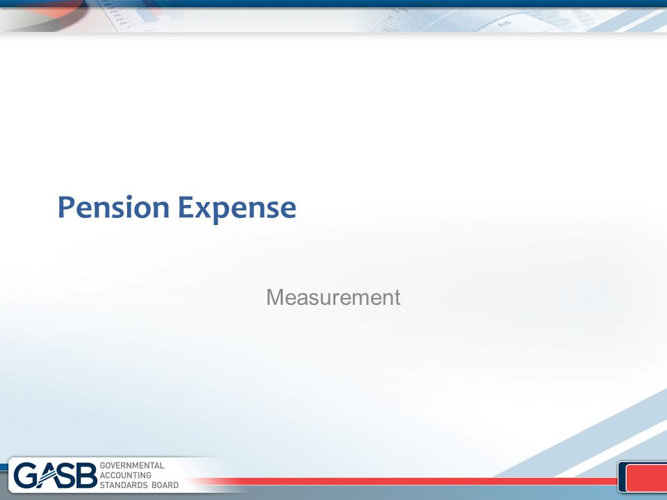 Pension Expense Measurement