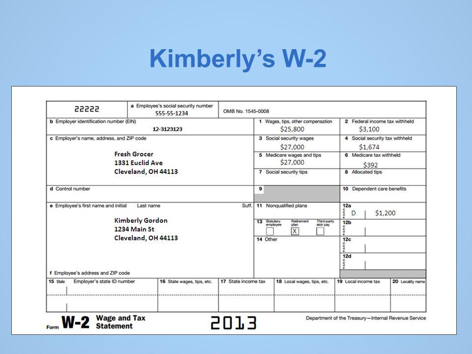 Kimberly's W-2