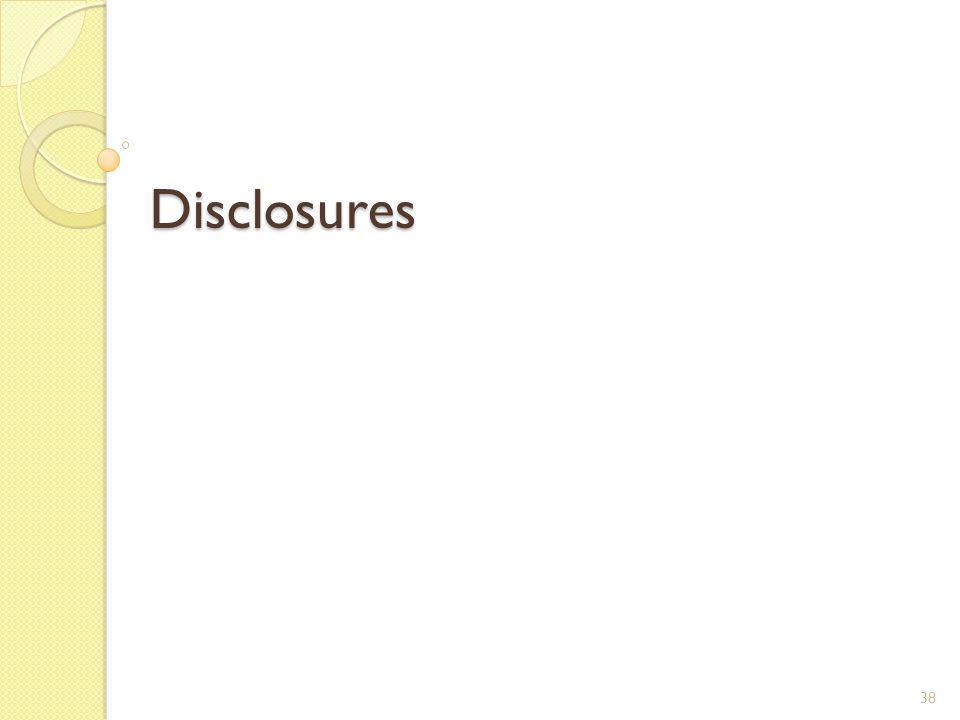 Disclosures 38