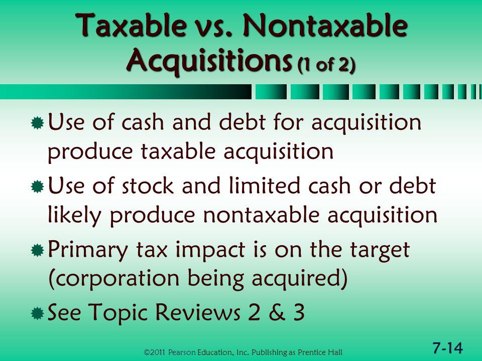 7-14 Taxable vs.