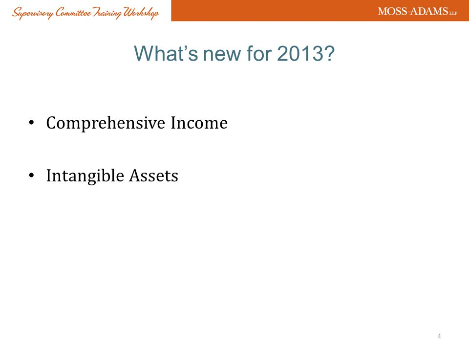 ASU 2013-02 COMPREHENSIVE INCOME