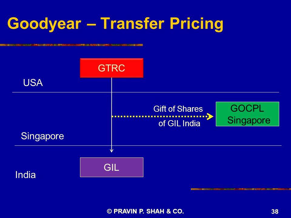 Goodyear – Transfer Pricing © PRAVIN P. SHAH & CO.