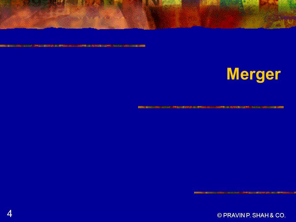 Merger © PRAVIN P. SHAH & CO. 4