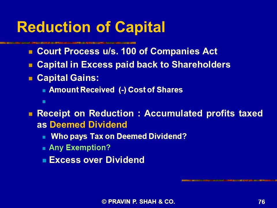© PRAVIN P. SHAH & CO. 76 Court Process u/s.
