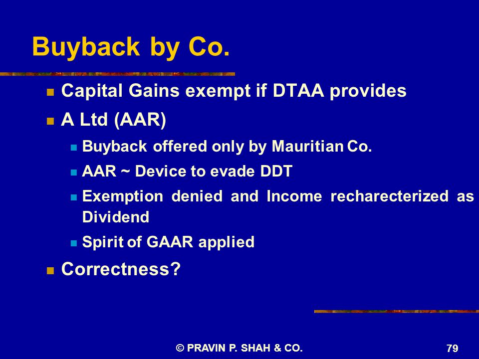 Buyback by Co.