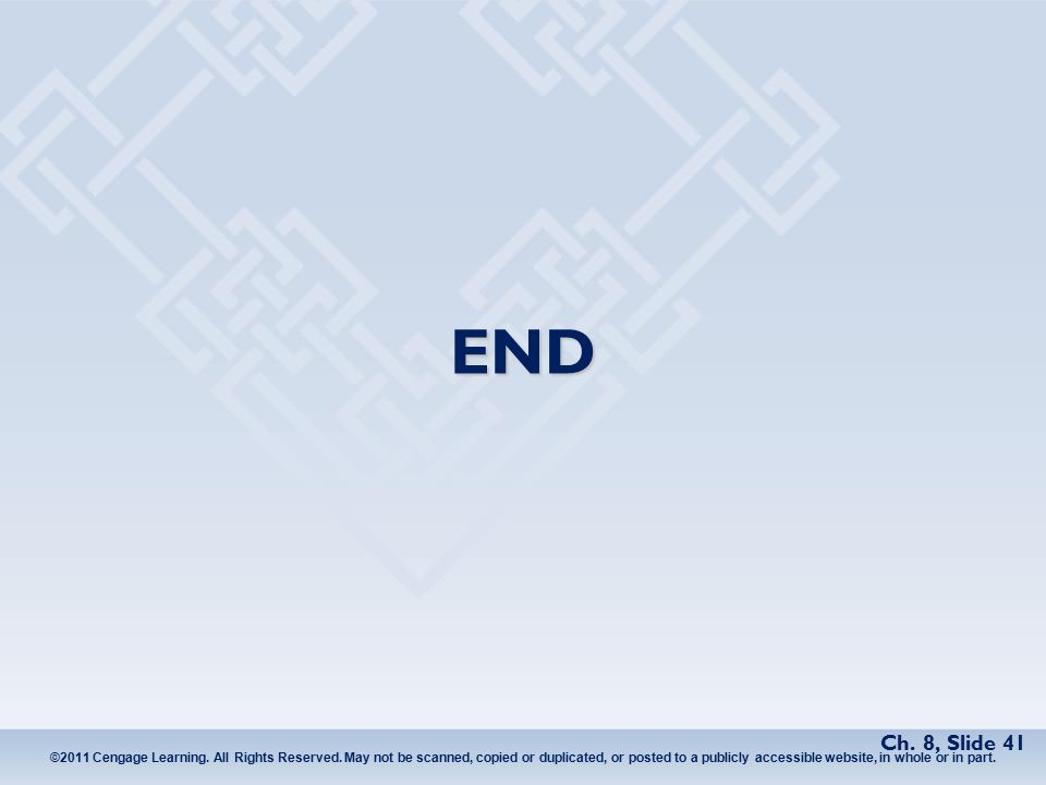 ©2011 Cengage Learning. All Rights Reserved.