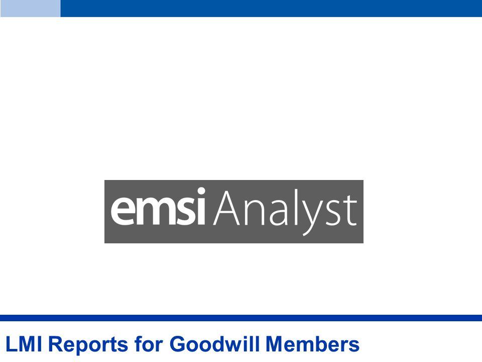 LMI Reports for Goodwill Members