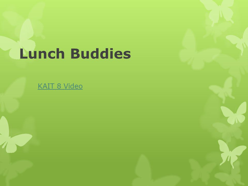Lunch Buddies KAIT 8 Video
