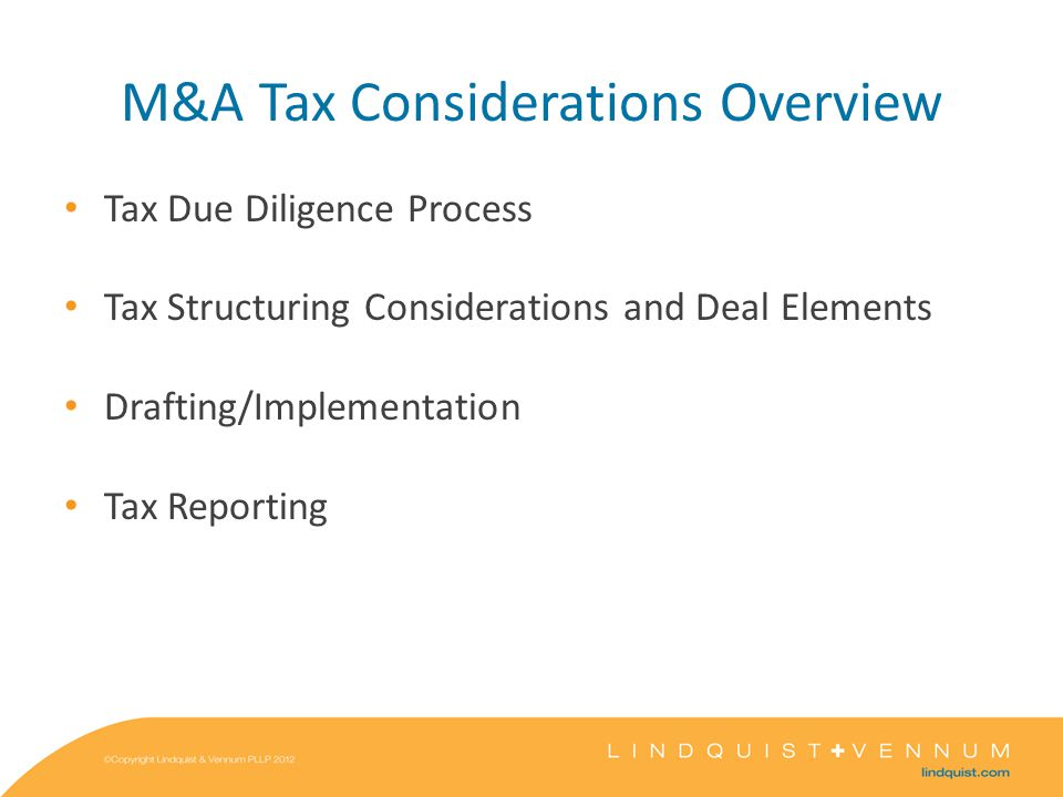 Corporate Structuring and Considerations Taxable Stock Sale Seller consequences Buyer consequences Entity consequences