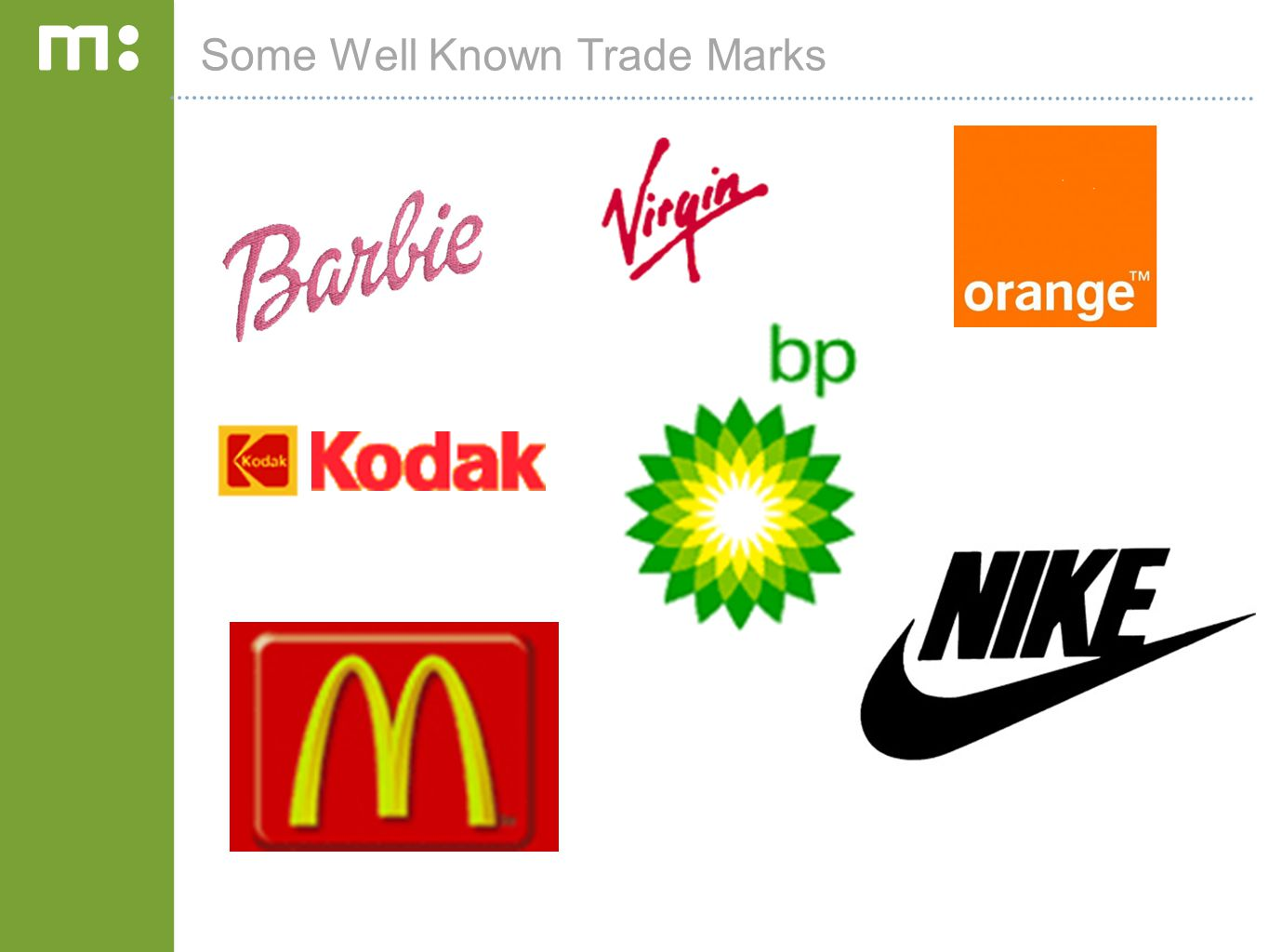 Some Well Known Trade Marks